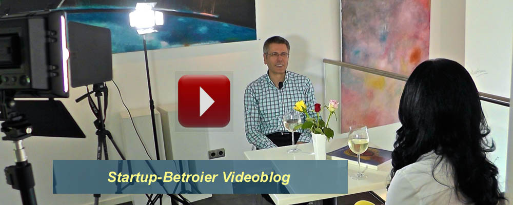 Startup-Betreuer Video-Blog